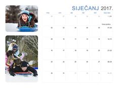 Kalendar za 2017. s fotografijama (pon. do sub./ned.)