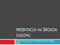 Prezentacija na širokom zaslonu