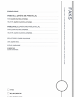 Naslovnica faksa (Oriel dizajn)
