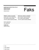 Naslovnica faksa (urbani dizajn)