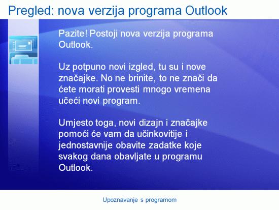 Prezentacija za obuku: Outlook 2007– upoznavanje s programom