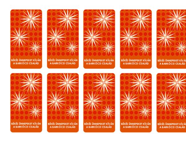 Karácsonyi üdvözlőkártyák (diszkrét hópehelymintás kártyák Avery 5871, 8871, 8873, 8876 és 8879 típusú etikettekhez)
