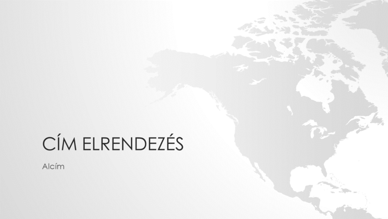 Világtérkép-sorozat, az észak-amerikai kontinenst ábrázoló bemutató (szélesvásznú)