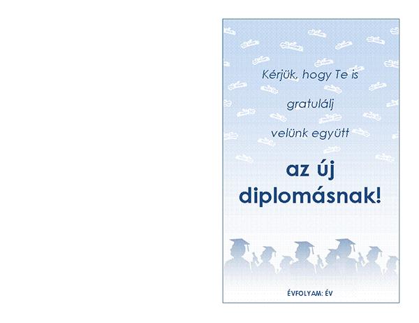 Meghívó diplomaosztó megünneplésére (Diplomaosztó ünnepség arculat, félbehajtva)
