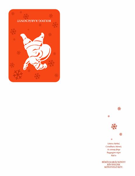 Mikulásos karácsonyi üdvözlőkártya