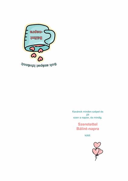 Bálint-napi üdvözlőlap