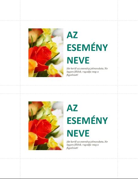 Vállalati esemény képeslap (laponként 2)