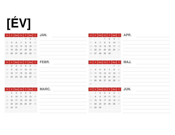 Általános éves naptár