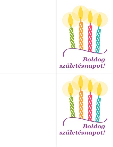 Születésnapi kártyák (laponként 2)