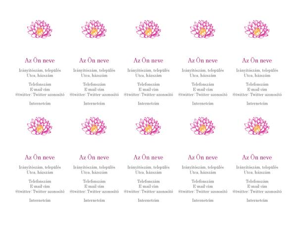 Virágos személyes névjegykártyák (függőleges)