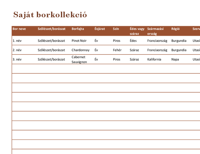 Borkollekció-lista