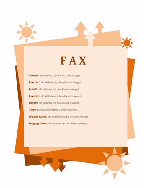 Faxfedőlap
