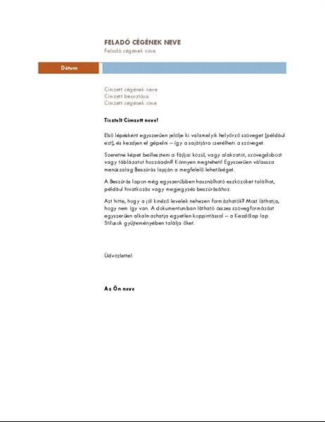 Üzleti levél (medián téma)