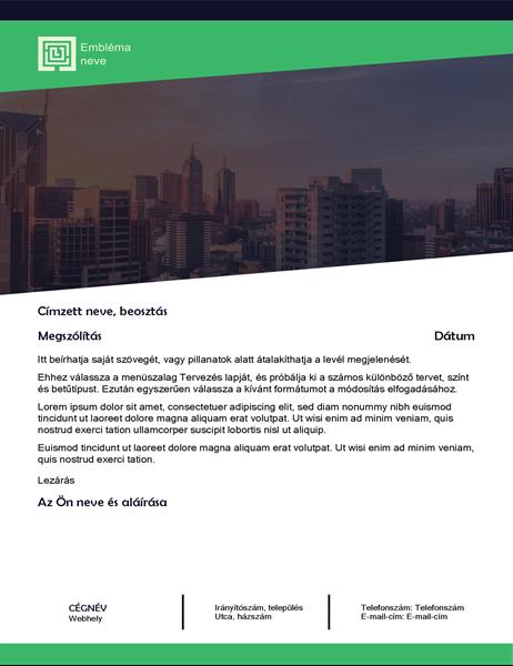Üzleti levél (zöld erdő arculat)