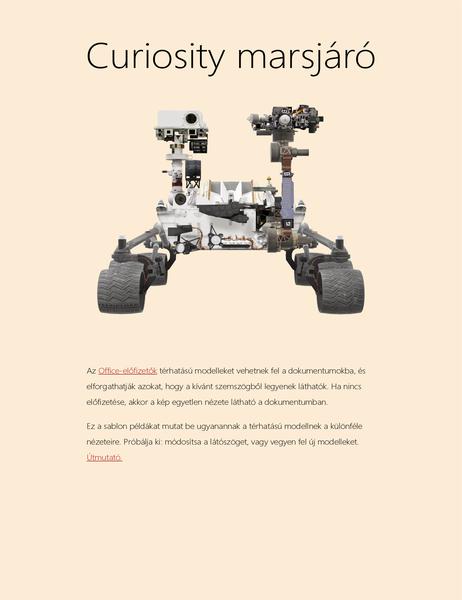 Térhatású tudományos bemutató – Word (A marsjáró modellje)