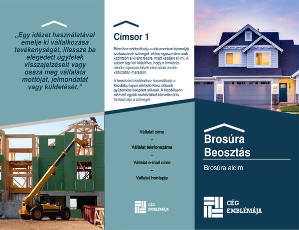 Kivitelezői brosúra