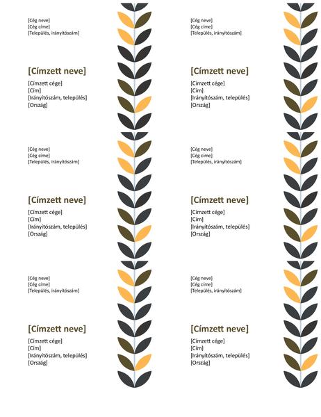 Szőlő mintájú címkék (oldalanként 6)