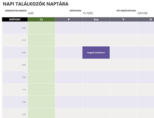 Napi találkozók naptára