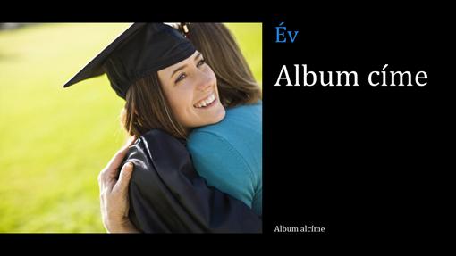 Diplomaosztóról készült fényképalbum, fekete (szélesvásznú)