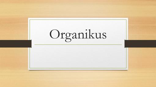 Organikus sötét fa