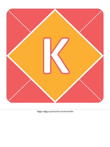 Kislány születését hírül adó transzparens (rózsaszín, sárga, zöld)