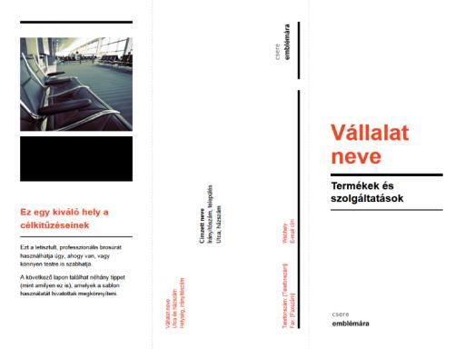 Háromrészes üzleti brosúra (fekete és piros látványterv)