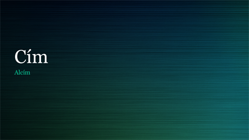 Zöld polírozott fémes bemutató (szélesvásznú)