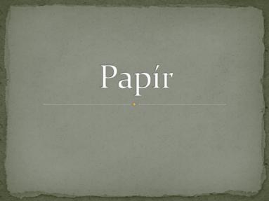 Papír