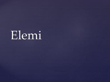 Elemi
