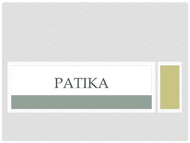 Patika