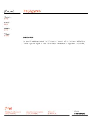 Üzleti feljegyzés (Piros-fekete téma)
