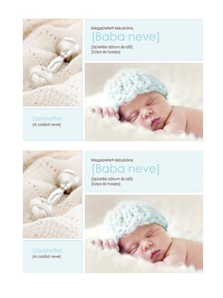 Értesítés kisfiú születéséről