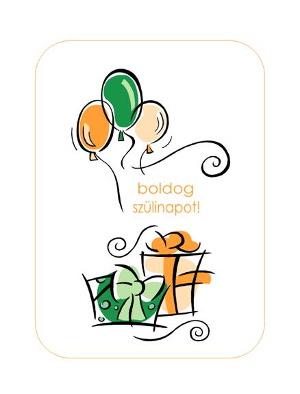 Születésnapi üdvözlet (léggömbökkel)