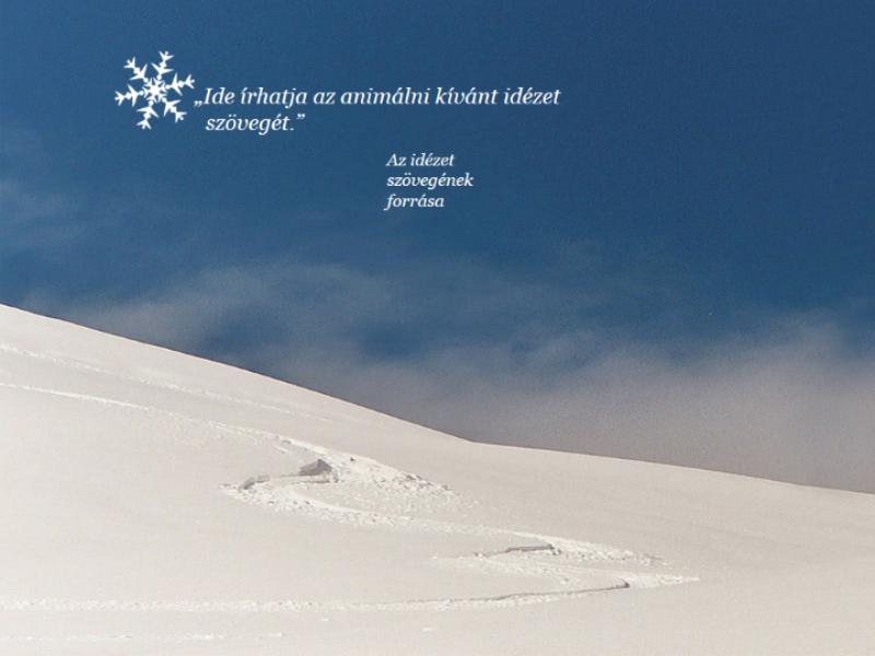 Animált havas táj