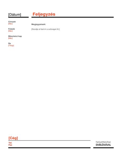 Üzleti feljegyzés (piros)