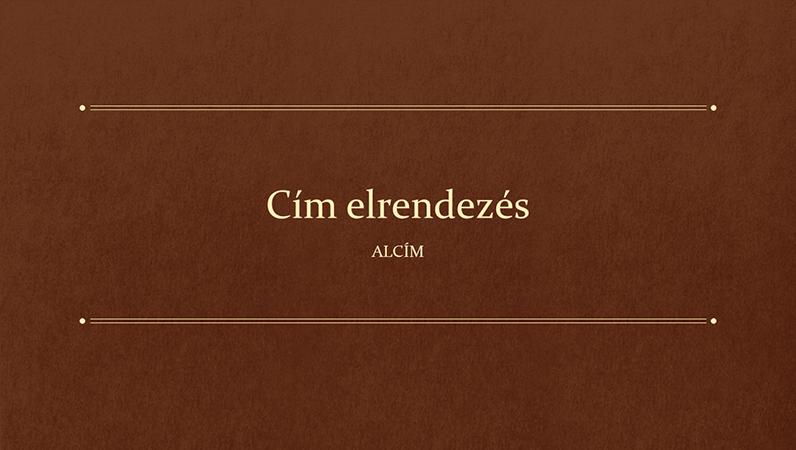 Klasszikus könyv iskolai bemutató (szélesvásznú)