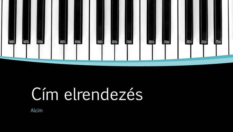 Zenei vonalak bemutató (szélesvásznú)