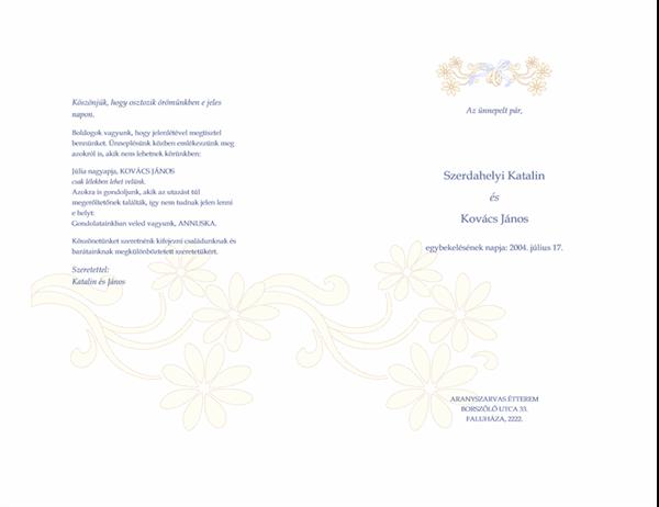 Esküvői program
