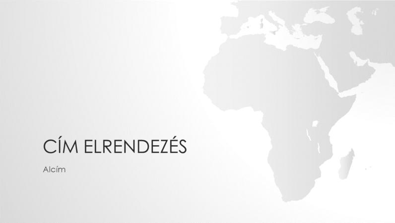 Világtérképek sorozat, Afrikát ábrázoló bemutató (szélesvásznú)
