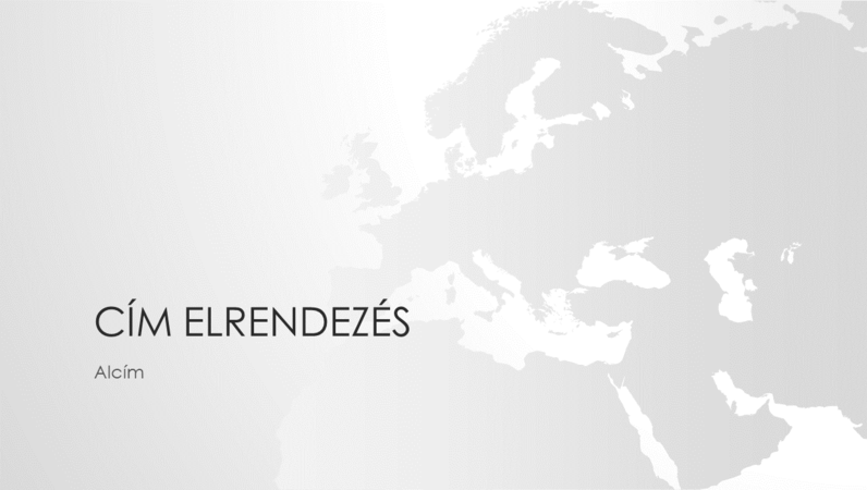 Világtérkép-sorozat, az európai kontinenst ábrázoló bemutató (szélesvásznú)