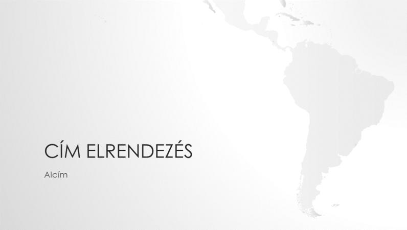 Világtérképek sorozat, Dél-Amerikát ábrázoló bemutató (szélesvásznú)
