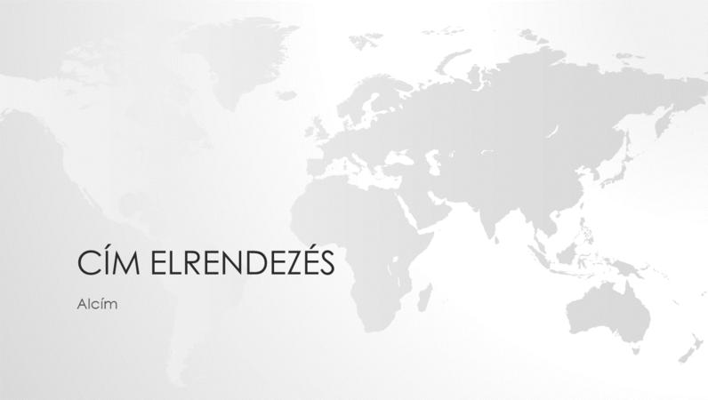Világtérkép-sorozat, a világot ábrázoló bemutató (szélesvásznú)