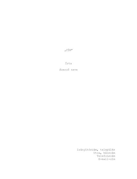 Forgatókönyv