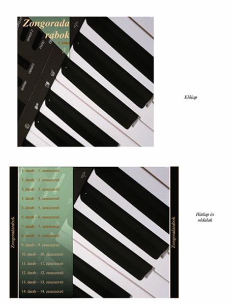 """CD-borító (""""zongorazene"""" látványterv)"""