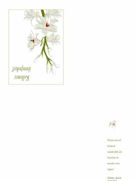Húsvéti üdvözlőlap (virágszállal)