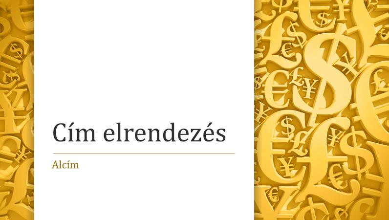Pénznemszimbólumok bemutató (szélesvásznú)