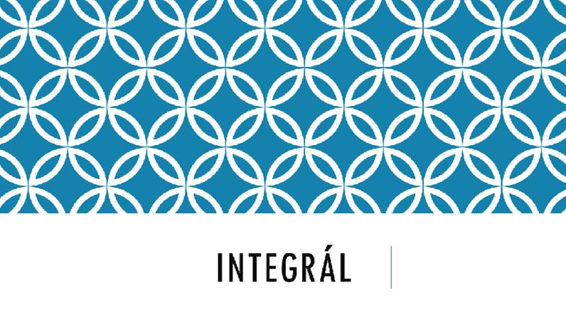 Integrál