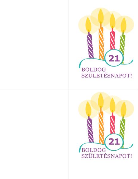 Születésnapi kártya (oldalanként 2, Avery 8315 kódú papírhoz)