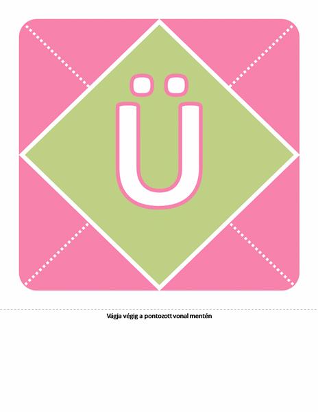 Üdvözlünk csöppnyi lányka – transzparens (rózsaszín, lila, zöld)