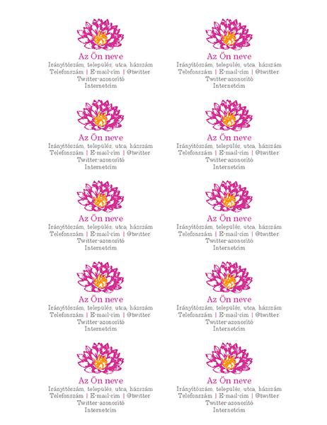 Virágos személyes névjegykártyák